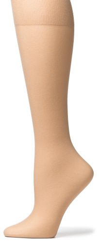 No Nonsense Women'S Sheer Toe Knee Highs, 10 Pair Pack, Black, One Size