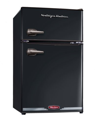Buy Discount Nostalgia Electrics RRF325HNBLK Retro Series 3.0-Cubic Foot Compact Refrigerator Freezer, Black