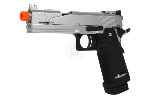 350 Fps We Hi-Capa 5.1 Full Metal Gas Blowback Airsoft Pistol - Silver