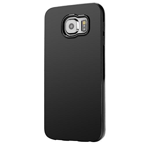 Coque Samsung Galaxy S6,Bingsale Coque de protection en silicone et TPU pour Samsung Galaxy S6 (Samsung Galaxy S6, noir)