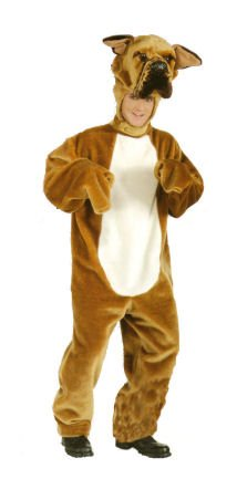 Who Let the Dogs Out in this Larger than Life Deluxe Plush Adult Bulldog Costume