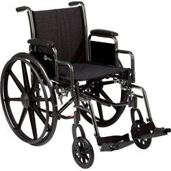 Roscoe Medical K32016Dhrsa K3-Lite Wheelchair Removable Desk-Length Arms , Elevating Legrests Powder-Coated Silver Vein Steel