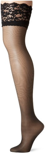Berkshire Women's Trend Back Seam Thigh High Stocking 1325 , Black, A-B
