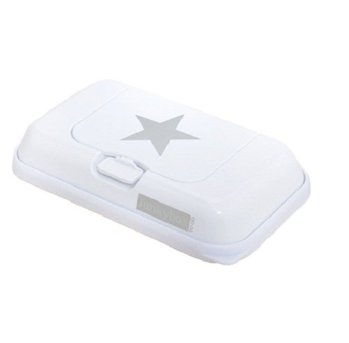 FunkyBox Easy Wipe Dispenser Box - White with silver star