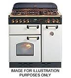 Rangemaster Classic 90 White/Brass Cooker