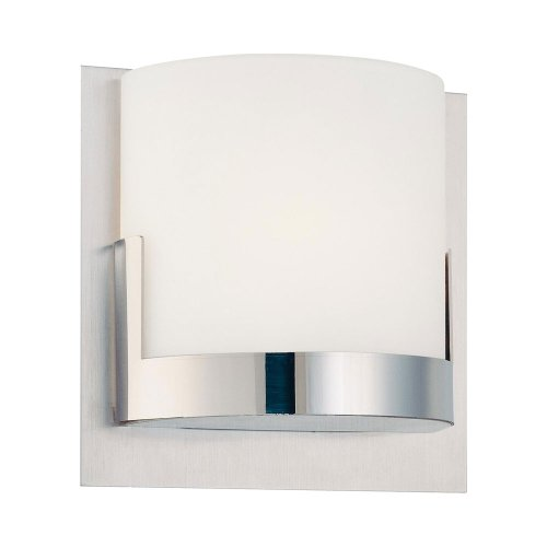 Kovacs P5952 1 Light Ada Compliant Wall Sconce From The Convex Collection, Chrome