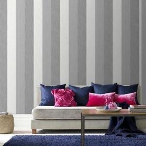 SuperFresco Java Stripe Wallpaper - Grey by New A-Brend