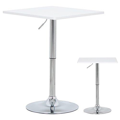 WOLTU-BT03ws-a-Bartisch-Bistrotisch-Partytisch-Design-Tisch-mit-Trompetenfu-drehbare-Tischplatte-aus-robustem-MDF-hhenverstellbar-Dekor-Wei
