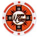 Batman's Wayne Casino Collectors Edition $50 Poker Chip Orange Colored Variant at Gotham City Store