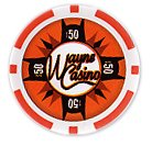 Batman's Wayne Casino Collectors Edition $50 Poker Chip Orange Colored Variant at Gotham City Store