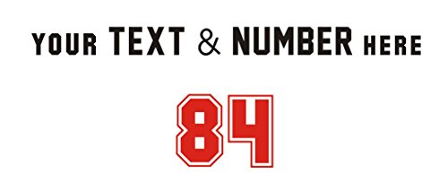 Custom Your Text & Number,Hockey HelmetJerseys, uniforms, or any T-shirt decoration is quick and easy,Time saver,Heat Transfer Vinyl,iron on Heat Transfer (Name:2