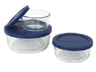 Pyrex Storage Plus ValuePack, 6-Piece Set, Blue