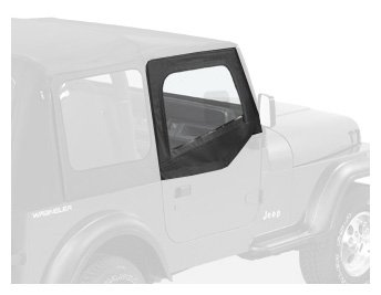 Bestop 53120-15 Black Denim Fabric Replacement Upper Door Skin Set For 88-95 Wrangler Yj