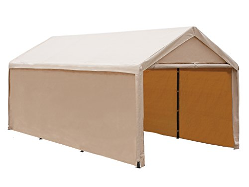Abba Patio 10x20 ft Heavy Duty Beige Domain Carport, Car Canopy Versatile Shelter with Sidewalls (Garage Carport compare prices)