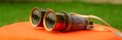 Collectibles Buy Antique Victorian Leather Covered Brass Binocular Finish 2