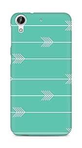 Amez designer printed 3d premium high quality back case cover for HTC Desire 626 G (Arrow Pattern)