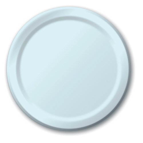 Creative Converting Touch of Color 24 Count Paper Banquet Plates, Pastel Blue (Light Blue Party Cups compare prices)