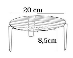 Griglia per grigliare nel forno microonde , sollevando il cibo più in alto per aiutarne la cottura. diam 20 cm X h. 8,5 cm
