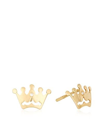 GOLD & DIAMONDS Pendientes Corona oro amarillo 18 ct