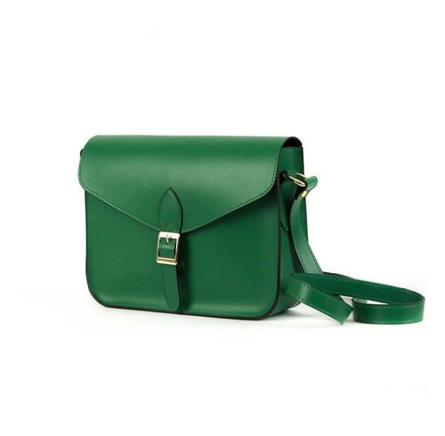 Gaorui Women Candy color Crossbody Satchel Shoulder PU leather Messenger Bag Handbag Lady Purse Bag_Green