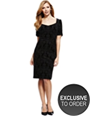 M&S Collection Burnout Floral Velour Dress
