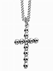 King Baby Studios Multi Skull Cross Pendant K10-5453