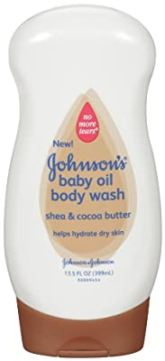 Johnson's Baby Oil Wash, Shea and Cocoa, 13.5Ounce (Pack of 6)