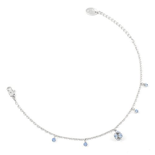 Perfect Gift - High Quality Elegant Ball Anklet with Blue Swarovski Crystals - 22cm (1877) for Birthday Anniversary Free Standard Shipment Clearance