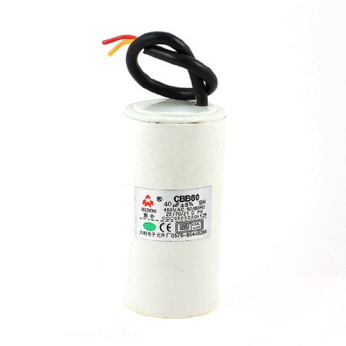 Cbb60 Ac 450V 40Uf Cylindrical Non Polar Motor Starting Capacitor White