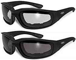 2 Motorcycle Riding Glasses Smoke Clear