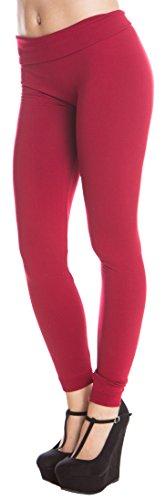 ragstock-womens-full-length-fleece-lined-legging-burgundy