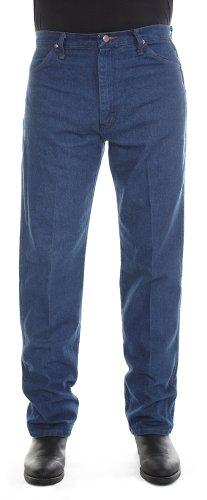Wrangler Men's Cowboy Cut Original Fit Jean, Prewashed Indigo Denim, 42x32