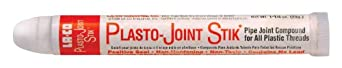 LA-CO Plasto-Joint Stik Plastic Thread Sealant Stick, 250 Degree F Temperature, 1-1/4 oz