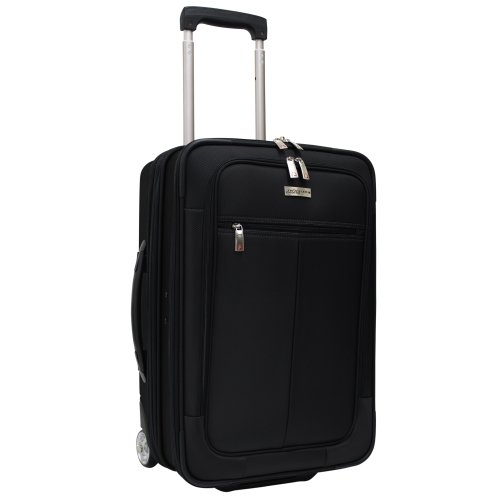 Travelers Choice  Siena 2-In-1 Hybrid Hard-Shell Carry-On Wheeled Garment Suitcase,Black,One Size