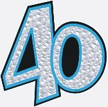 40th Birthday Prismatic Cutout