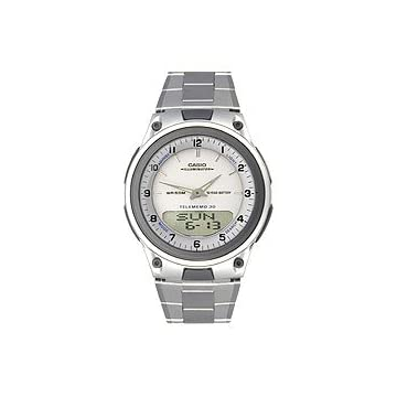 Casio Ana-digi Steel Bracelet White Dial Men's watch #AW80D7AV