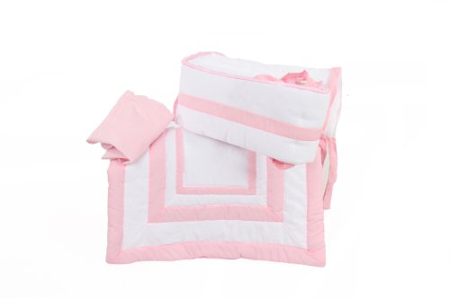 Baby Doll Modern Hotel Style Cradle Bedding set, Pink