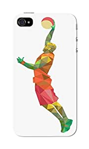 CimaCase Abstract Basketball Player Designer 3D Printed Case Cover For Apple iPhone 4S
