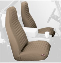 Bestop® 29227-04 Tan Front High Back Seat Cover Set For 80-83 Cj5; Cj7 76-86; 87-91 Wrangler Yj front-460401