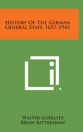 History of the German General Staff, 1657-1945