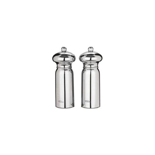 Trudeau Evolution Pepper Mill and Salt Shaker Set Mirror Finish 16 cm x 7.5 cm x 7.5 cm