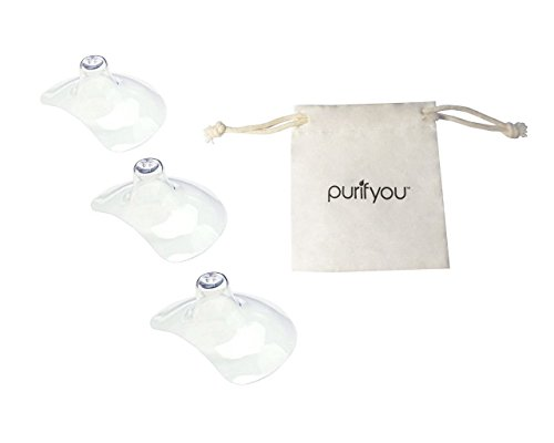 Review Of purifyou Premium Nipple Shield, Set of 3 with Soft Cotton Reusable Drawstring Bag -- Non-T...