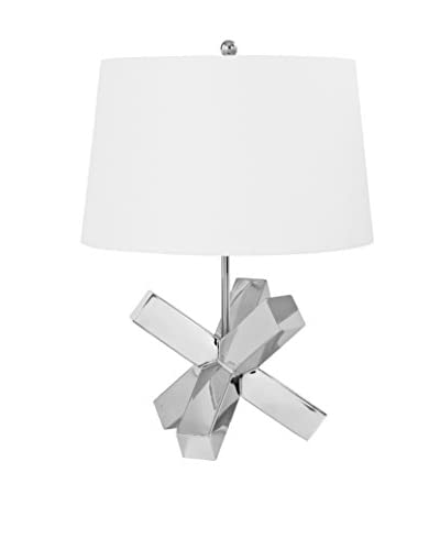 Home Philosophy Small 1-Light Abstract Lamp, Nickel