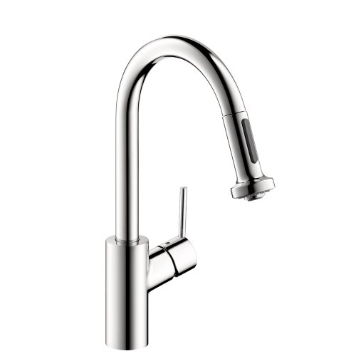 Hansgrohe 04286000 Talis S 2 Prep Kitchen Faucet with 2-Spray Pull Down, Chrome (Talis Kitchen Faucet compare prices)