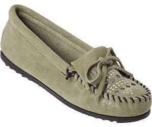 Image of MINNETONKA 500T MOCCASIN GREEN (B004IA1K0C)