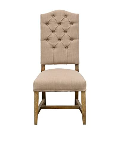 Tottenham Court Deshi Side Chair, Dark Linen