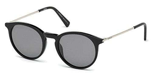Occhiali da sole polarizzati Montblanc MB549S C49 01D (shiny black / smoke polarized)