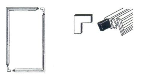 Türdichtung Set für Kühlschrank, 1300 x 700 mm