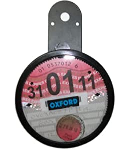 Oxford Motorcycle Motorbike Universal Tax Disc Holder Black