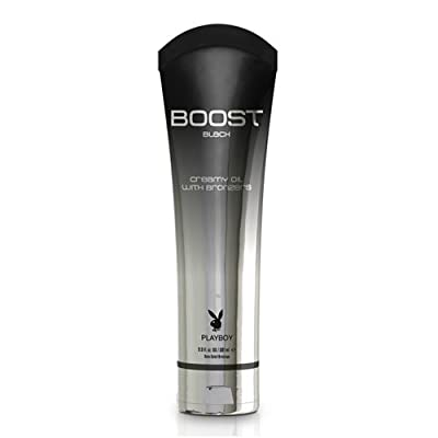 Playboy Men Boost Black Tanning Moisturizer Oil Bed Indoor Bronzer Lotion Cream from Playboy